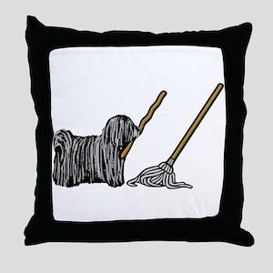 Puli Mop Throw Pillow
