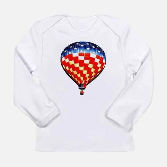 American Hot Air Balloon Long Sleeve Infant T-Shir