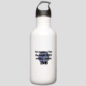 World Revolves Around Bob Stainless Water Bottle 1