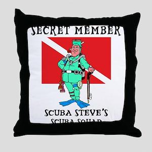 SCUBA Steve Throw Pillow