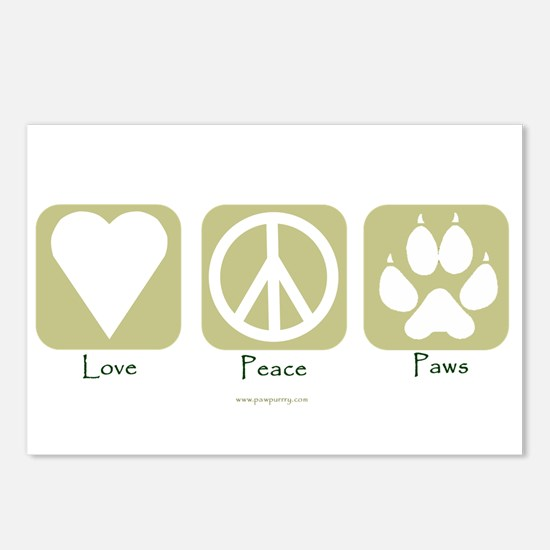Cute Peace love dogs Postcards (Package of 8)