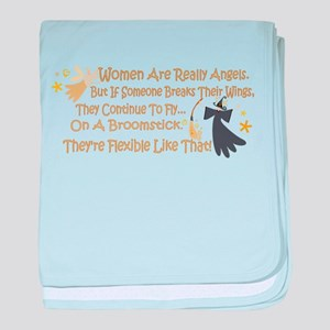 Women Are Like Angels baby blanket