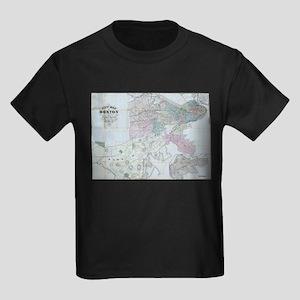 Vintage Map of Boston Massachusetts (1870) T-Shirt