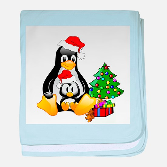 Its a Tux Christmas baby blanket