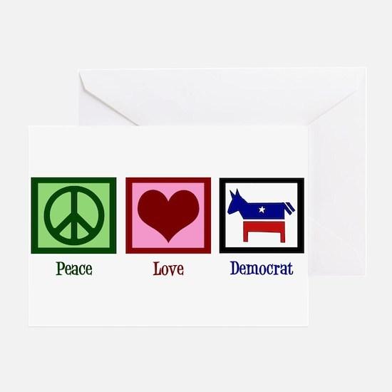 Peace Love Democrat Greeting Card
