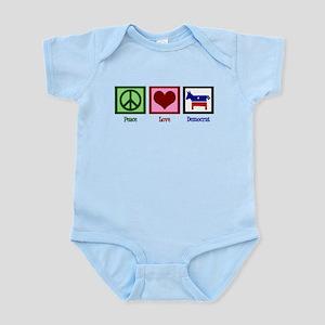 Peace Love Democrat Infant Bodysuit