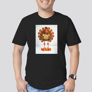 PLEASE order out pizza ! Men's Fitted T-Shirt (dar