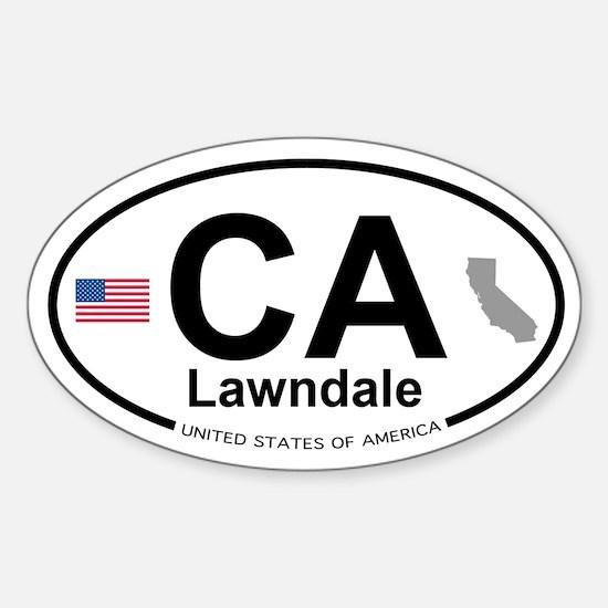 Lawndale Sticker (Oval)