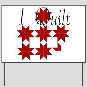 Star Quilt Pattern Yard Sign