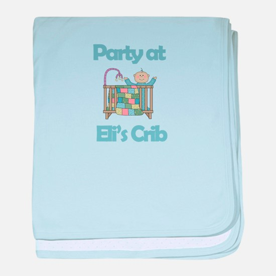 Party at Eli's Crib baby blanket