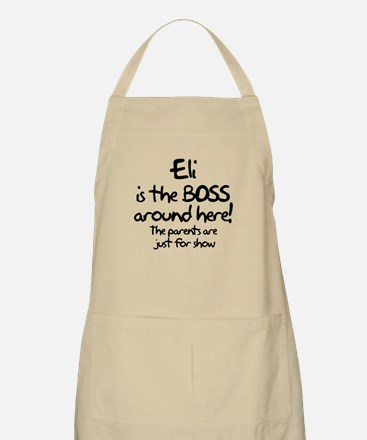Eli is the Boss Apron