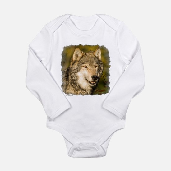 Wolf Long Sleeve Infant Bodysuit