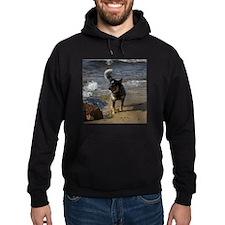 Blue - Cattle dog - Hoodie (dark)