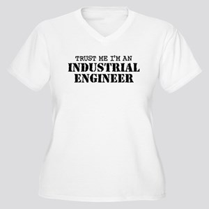 Industrial Engineer Women's Plus Size V-Neck T-Shi