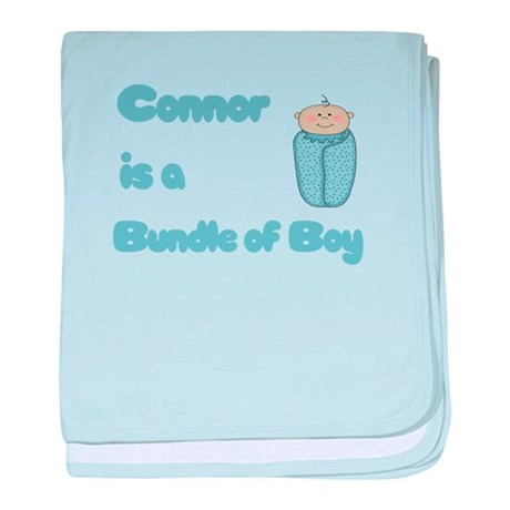 Connor is a Bundle of Boy baby blanket