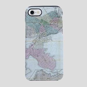 Vintage Map of Boston Massachu iPhone 7 Tough Case