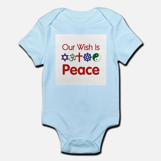 Our Wish Is PEACE Infant Bodysuit