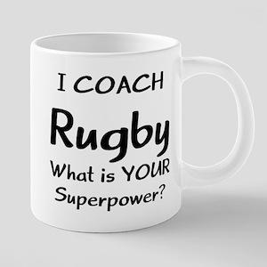 rugby coach 20 oz Ceramic Mega Mug
