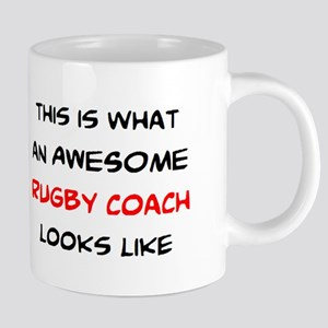 awesome rugby coach 20 oz Ceramic Mega Mug
