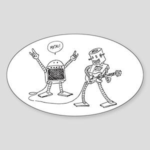 RoboShredder & AmpDroid Sticker (Oval)