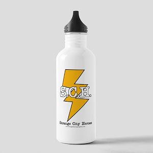 Strange City Heroes Logo Stainless Water Bottle 1.