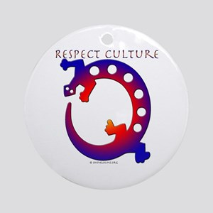 Respect Culture - Native Lizard Ornament (Round)
