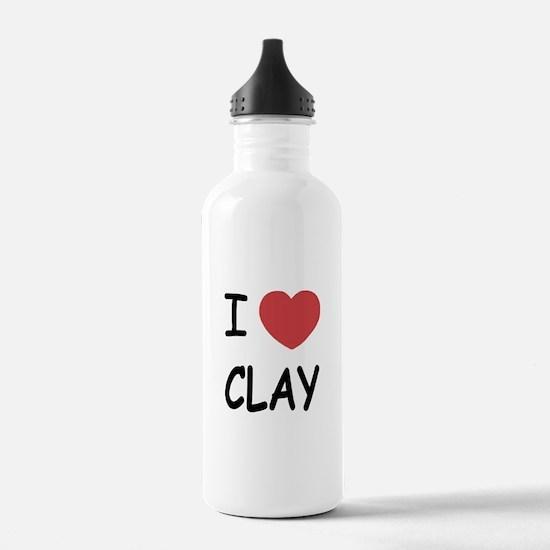 I heart clay Water Bottle