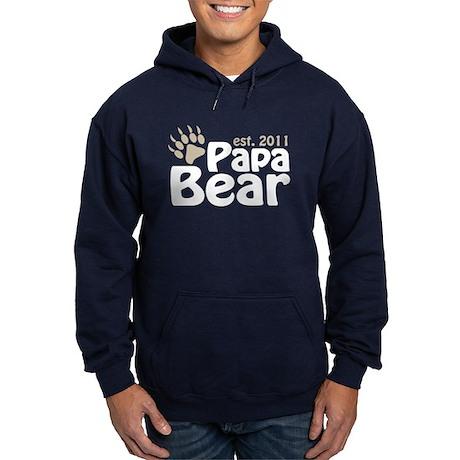 Papa Bear Est 2011 Hoodie (dark)