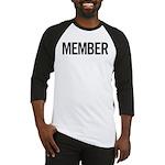 Member (black) Baseball Jersey