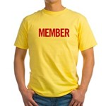 Member (red) Yellow T-Shirt