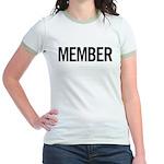 Member (black) Jr. Ringer T-Shirt
