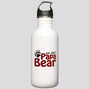 Papa Bear Est 2011 Stainless Water Bottle 1.0L