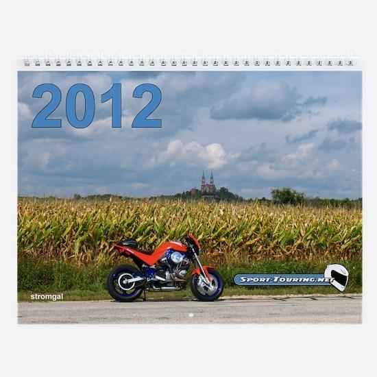 Cute Motorcycle harley Wall Calendar