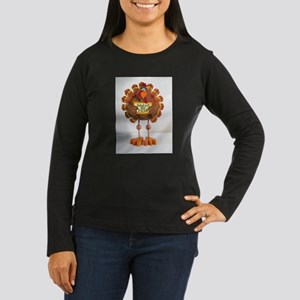 PLEASE order out pizza ! Women's Long Sleeve Dark