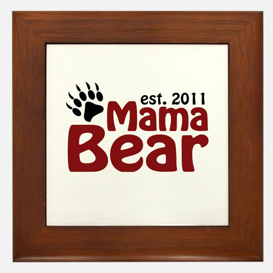 Mama Bear Est 2011 Framed Tile
