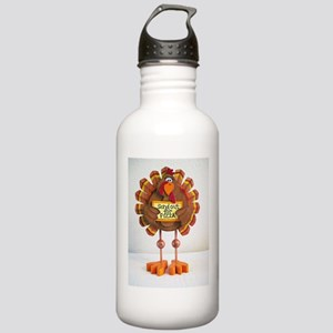 PLEASE send out for pizza ! Stainless Water Bottle