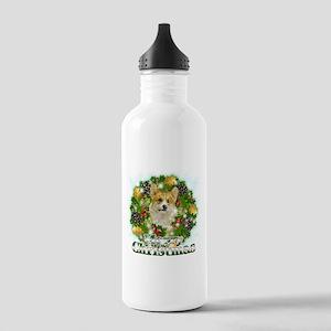Merry Christmas Corgi Stainless Water Bottle 1.0L