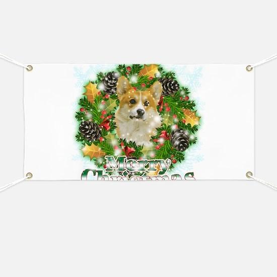 Merry Christmas Corgi Banner