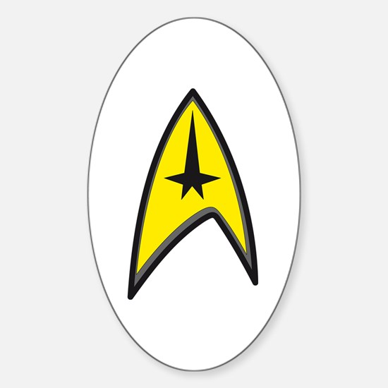 Original Star Trek Sticker (Oval)