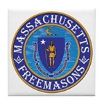 Massachusetts Free Masons Tile Coaster