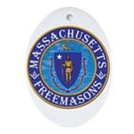Massachusetts Free Masons Ornament (Oval)