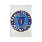 Massachusetts Free Masons Rectangle Magnet (100 pa