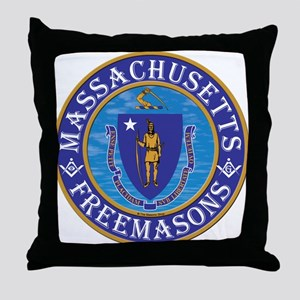 Massachusetts Free Masons Throw Pillow