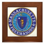 Massachusetts Free Masons Framed Tile