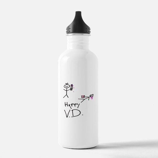 Happy V.d. Water Bottle