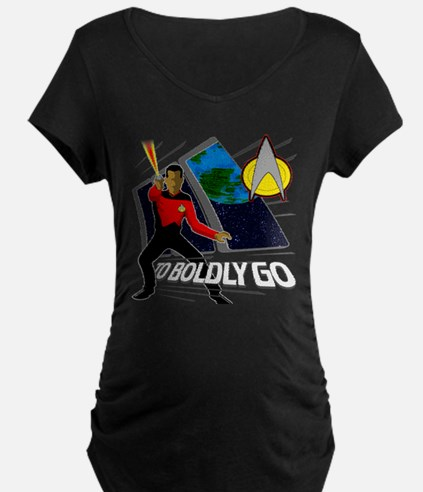 TO Boldy Go! Star Trek TNG T-Shirt