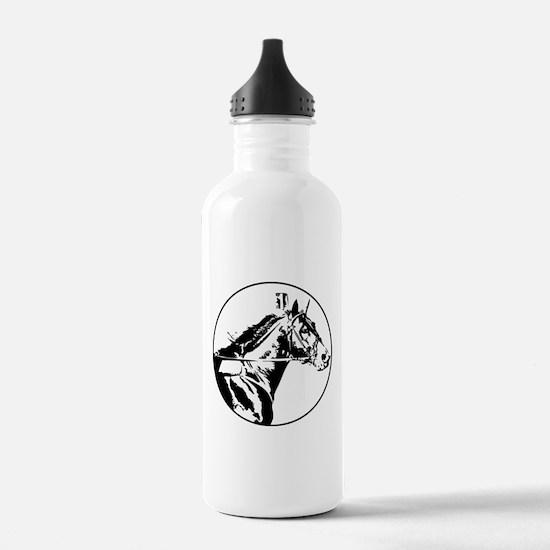 Cute Standardbred horse Water Bottle