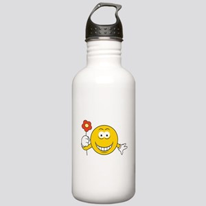 Smiley Face with Flower Stainless Water Bottle 1.0