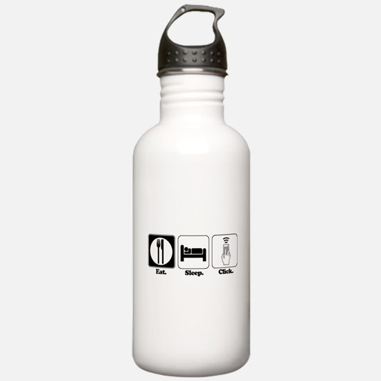 Eat. SLeep. CLick. (Remote Co Water Bottle