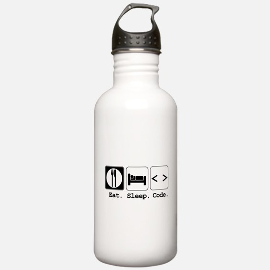 Eat. Sleep. Code. Water Bottle